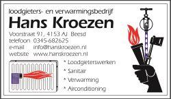 Loodgieters & Sanitairbedrijf Hans Kroezen