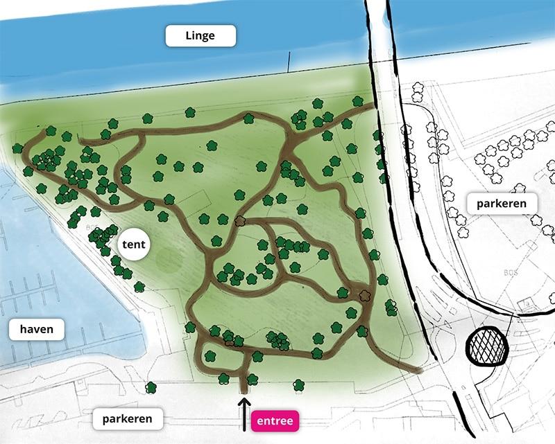 plattegrond park Ode aan de Linge